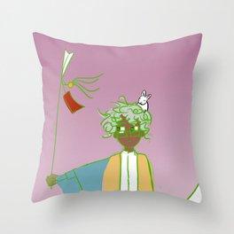 Desconfianza del futuro Throw Pillow