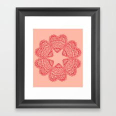 Valentine hearts 4 Framed Art Print