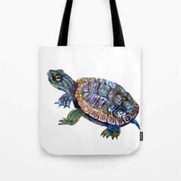 Slider Baby Turtle artwork Tote Bag