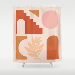 Abstraction_SHAPES_Architecture_Minimalism_002 Shower Curtain