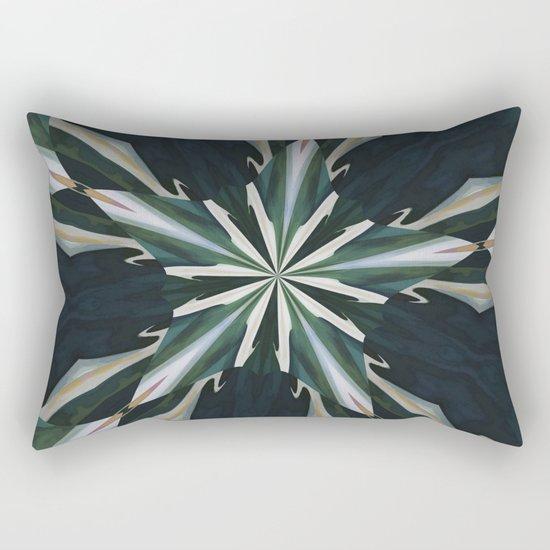 Calla Lily Star Kaleidoscope Rectangular Pillow