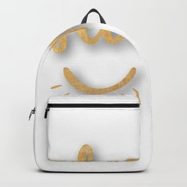 Gold sleep in Backpack