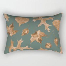 Autumn Elements Pattern (Copper&Sage) Rectangular Pillow