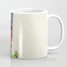 Electric Bass Guitar Abstract Watercolor Coffee Mug