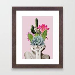 Cactus Lady Framed Art Print