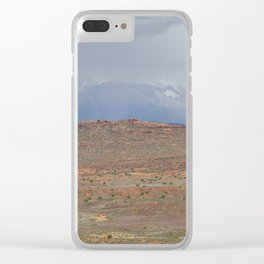 La Sal Mountains, Utah Clear iPhone Case