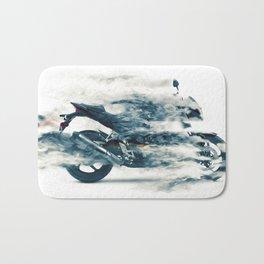 Dynamic motorcycle Bath Mat