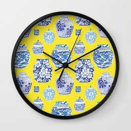 Chinoiserie Ginger Jar Collection No.2 Wall Clock