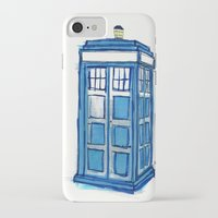 tardis iPhone & iPod Cases featuring Tardis by Stepharooskie
