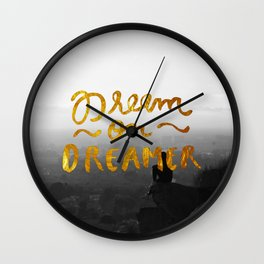 Dream On Dreamer Wall Clock