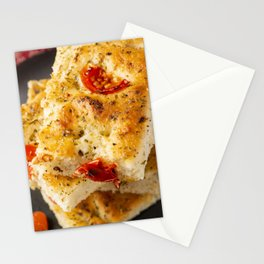 Fresh baked Focaccia Stationery Cards