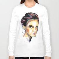emma watson Long Sleeve T-shirts featuring Emma Watson by caffeboy