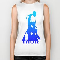 thor Biker Tanks featuring Thor by Sport_Designs