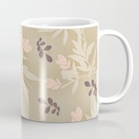 vintage flowers Mugs featuring vintage flowers by Julia Tomova