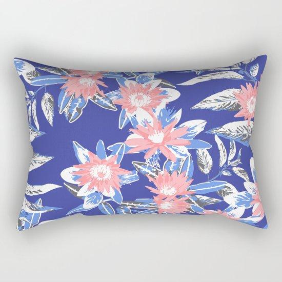 Vintage Flower Pattern Rectangular Pillow