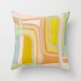 Shapes and Layers no.28 - Modern Squares and Stripes Throw Pillow
