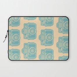 I Still Shoot Film Holga Logo - Reversed Turquoise/Tan Laptop Sleeve