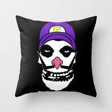 Misfit Waluigi Throw Pillow