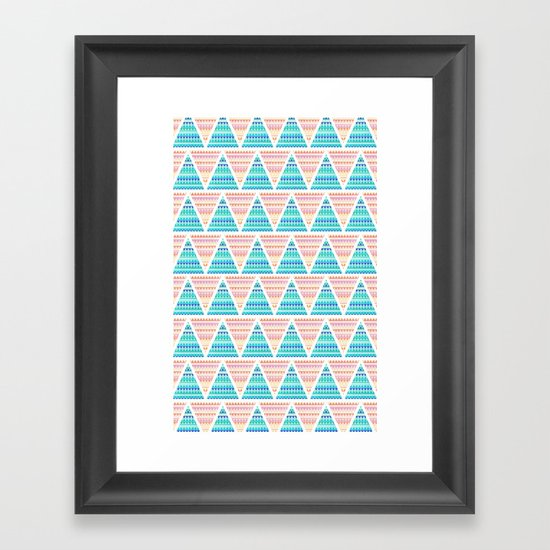 Mixed Aztec Pattern Framed Art Print