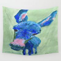 donkey Wall Tapestries featuring Wonkey Donkey by Vivid Perceptions