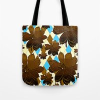 magnolia Tote Bags featuring Magnolia  by Saundra Myles