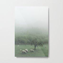 Sheeps - vert Metal Print
