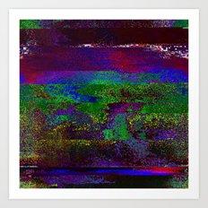 66-84-01 (Earth Night Glitch) Art Print