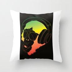 Jamin' Chimpanzie  Throw Pillow
