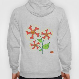 Doxie Flower Hoody