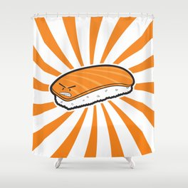 Angry Sushi Shower Curtain