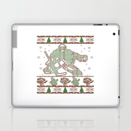 Hockey Goalie Christmas Laptop & iPad Skin