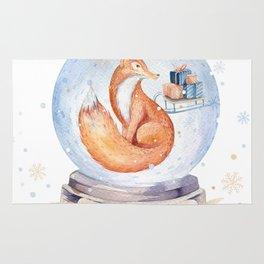 Christmas fox #1 Rug