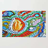 geode Area & Throw Rugs featuring Sunset Fire - Geode by Cindy White Photo Art