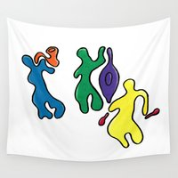 jazz Wall Tapestries featuring Jazz by Shelly Lukas Art