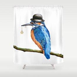 Mr Kingfisher Shower Curtain