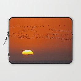 Flight of the flamingoes - Africa wildlife Laptop Sleeve