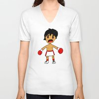rocky V-neck T-shirts featuring ROCKY by Christophe Chiozzi