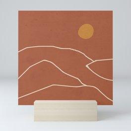 Minimal Abstract Art Landscape 2 Mini Art Print