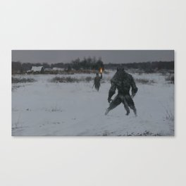 hunting at night Canvas Print