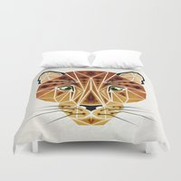 leopard Duvet Covers featuring leopard by Manoou