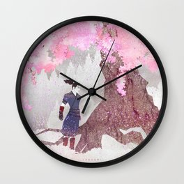 Tengami - Winter Cherry Tree (Portrait) Wall Clock