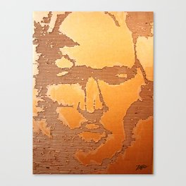 Man Recycled  Canvas Print