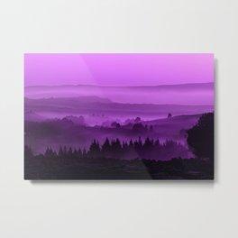 My road, my way. Purple. Metal Print