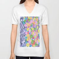 ferris wheel V-neck T-shirts featuring Ferris Wheel  by Laura Jane Mitbrodt