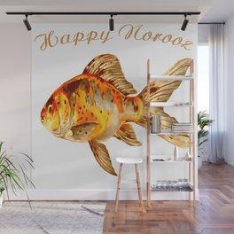 Elegant Happy Norooz Goldfish Persian New Year Wall Mural