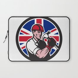 British Handyman Union Jack Flag Icon Laptop Sleeve