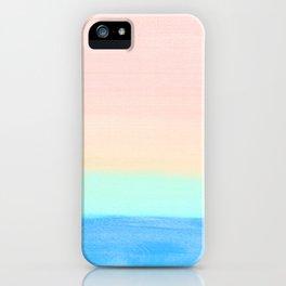 Retro Rainbow Painting iPhone Case