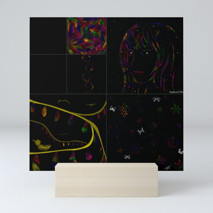 Subtracting Night from Rainbows, full collection Mini Art Print