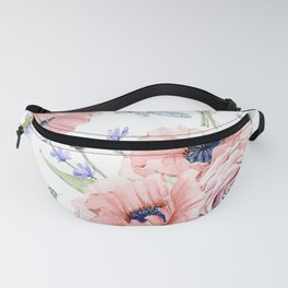 Fall Country Flowers Fanny Pack