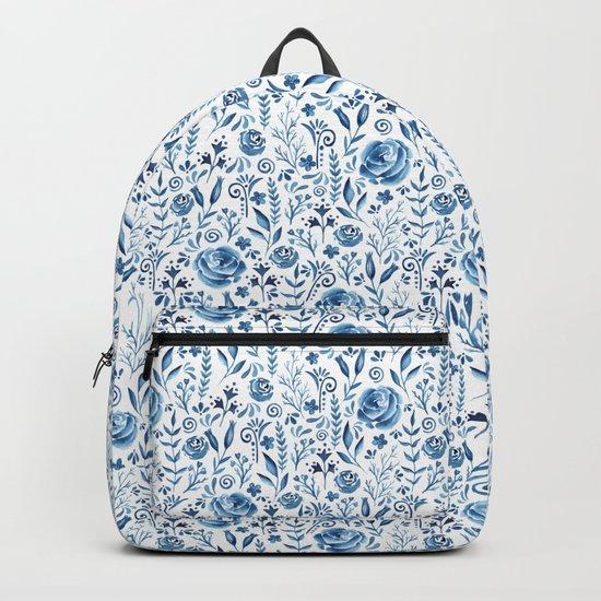Blue flowers Backpack